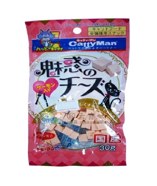 Cattyman 貓用芝士三文魚粒 (30g), 貓貓產品, CattyMan(日本)