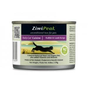 ZiwiPeak 兔肉&羊肉貓罐頭6oz(12)
