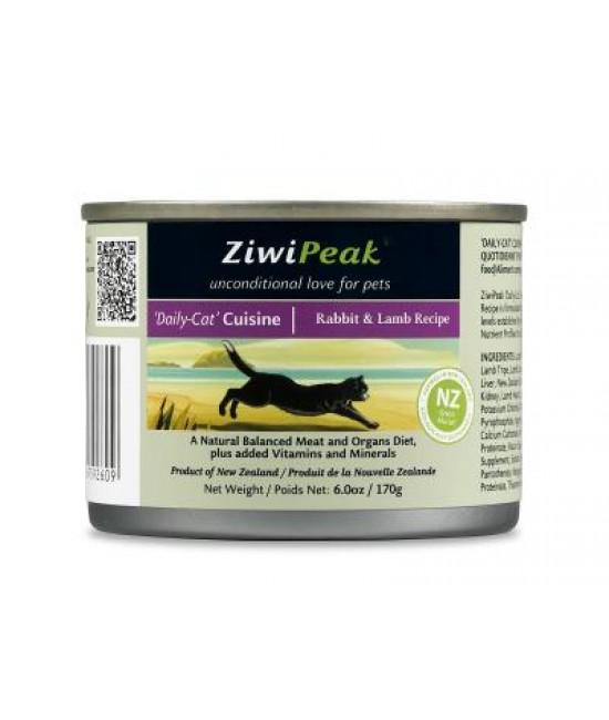 ZiwiPeak 兔肉&羊肉貓罐頭6oz(12), 貓貓產品, ZiwiPeak 巔峰