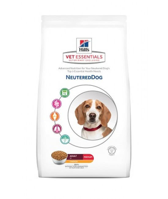 Hill's VetEssentials 獸醫保健寵物食品-中型成犬絕育配方 2kg, 狗狗產品, Hill's 希爾思