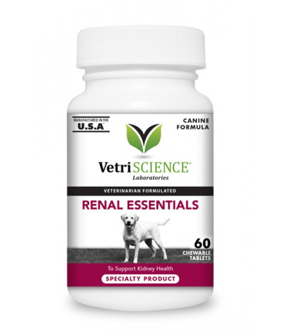 Renal Essentials Canine Chewable Tablets 60 tablets , 狗狗產品, Vetri-Sciences
