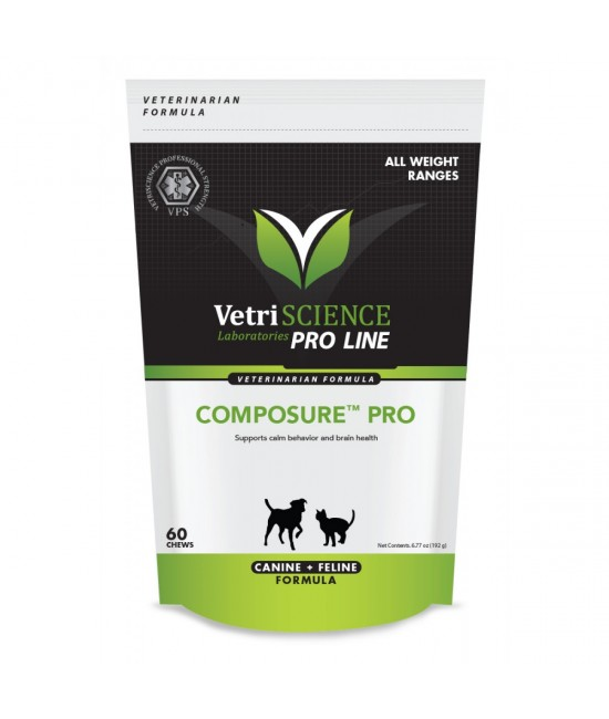 Composure PRO all Weight Ranges Bite-Sized Chews 60, 貓貓產品, Vetri-Sciences