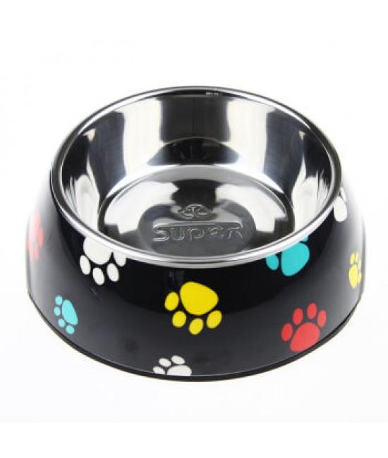 Super SD Pets經典圓碗-黑色圖案