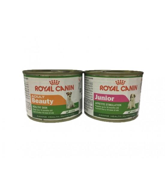 [滿$300自選禮品] Royal Canin 法國皇家成犬美毛及幼犬開胃狗罐頭- 195g (1 件)