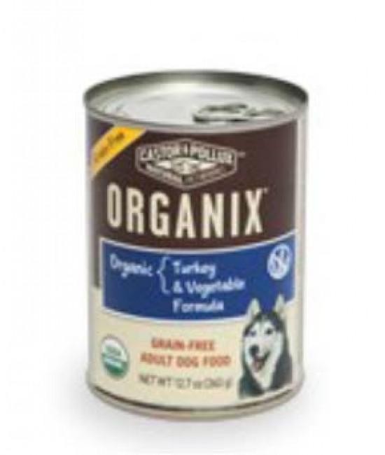Organix 有機無穀物火雞+蔬菜肉醬狗罐頭12.7oz (12), 狗狗產品, Organix(美國)