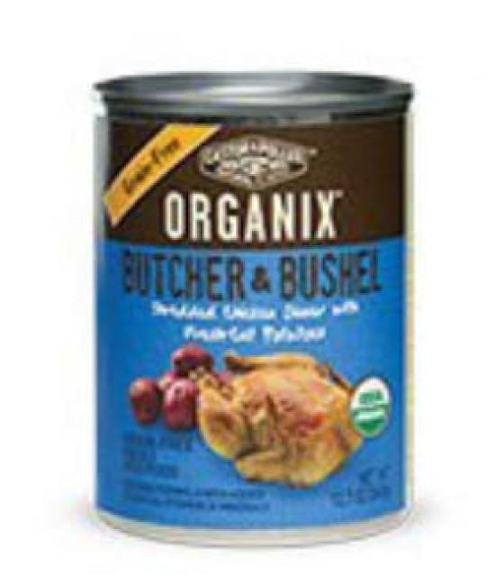 Organix 成犬有機無穀物雞絲+馬鈴薯肉粒狗罐頭12.7oz (12), 狗狗產品, Organix(美國)