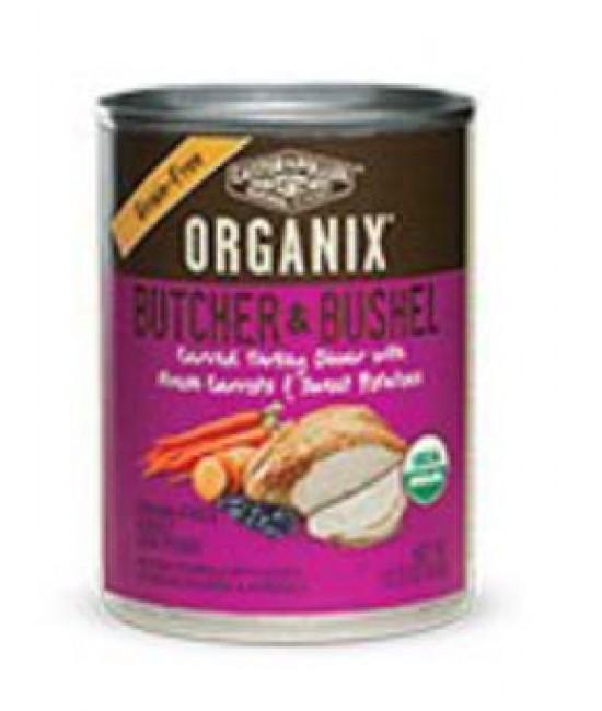 Organix 成犬有機無穀物火雞肉+胡蘿蔔+紅薯肉粒狗罐頭12.7oz (12), 狗狗產品, Organix(美國)