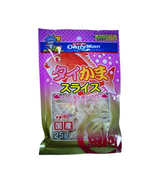 Cattyman 鯛魚銀鱈魚絲 (25g)