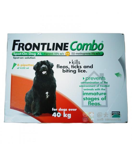 Frontline Combo 滴頸殺蚤(XL)40-60公斤狗 - 6支裝(紅)(英國入口), 狗狗產品, Merial