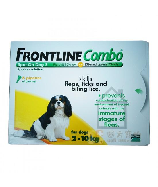 Frontline Combo 滴頸殺蚤(S)10公斤以下狗 - 6支裝(橙)(英國入口), 狗狗產品, Merial