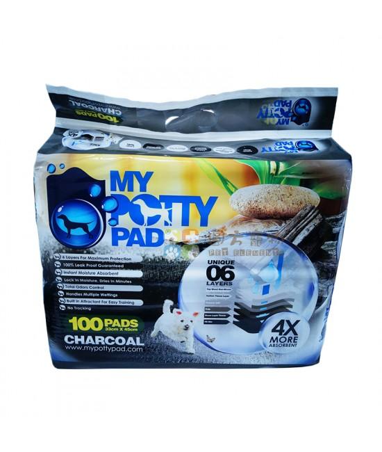 My Potty Pad 厚型木炭尿片(S) - 100片裝