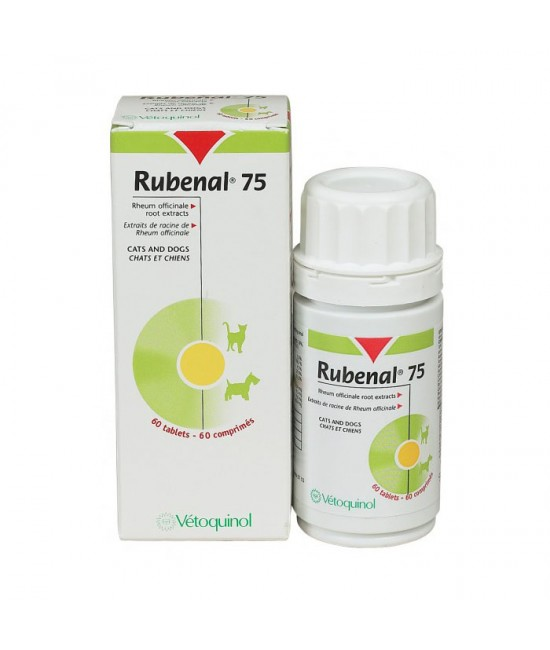 Rubenal 75mg Kidney Supplementary - 60s, Veterinary Products, Vetoquinol