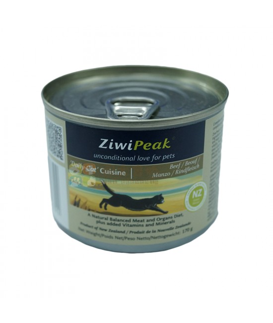 ZiwiPeak 牛肉貓罐頭 - 6oz, 貓貓產品, ZiwiPeak 巔峰