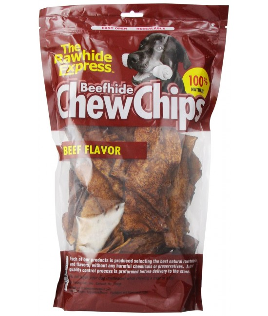 Bravo ChewChips 牛肉味大包骨片狗小食 - 450g
