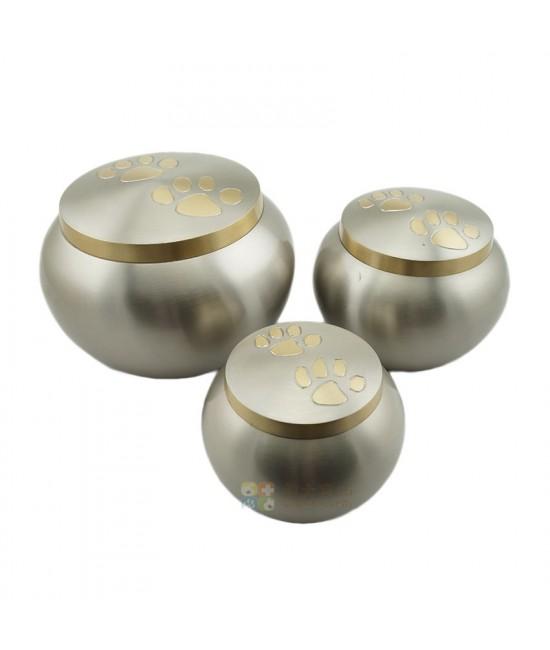 白金足印黃銅圓形骨灰盅
