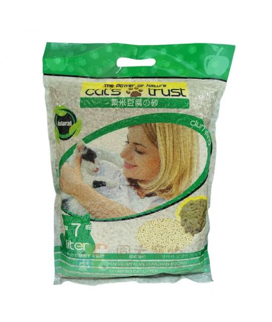 Cat's Trust 蘋果味豆腐貓砂(綠色) - 1箱5包