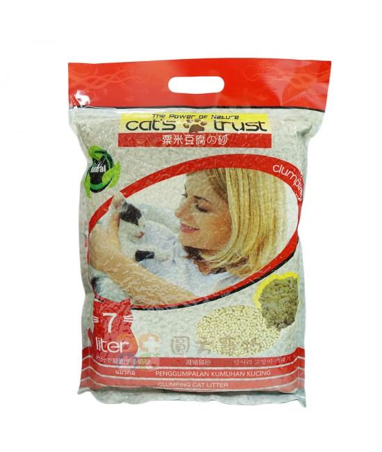 Cat's Trust 綠茶味豆腐貓砂(紅色) - 1箱5包
