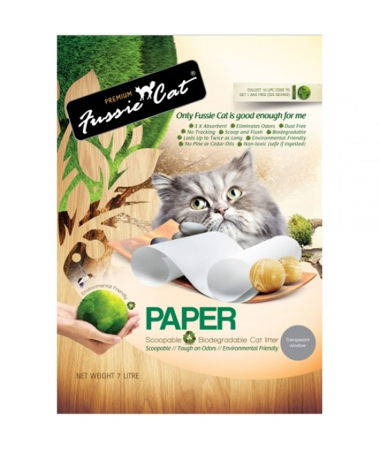 Fussie Cat 高竇貓 天然紙貓砂 - 7L