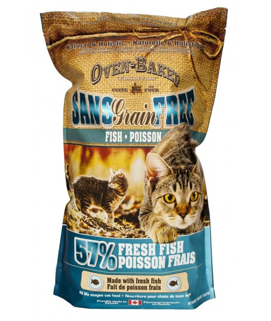 Oven-Baked 奧雲寶 成貓五種魚無穀物配方 貓乾糧, 貓貓產品, Oven-Baked 奧雲寶(加拿大)