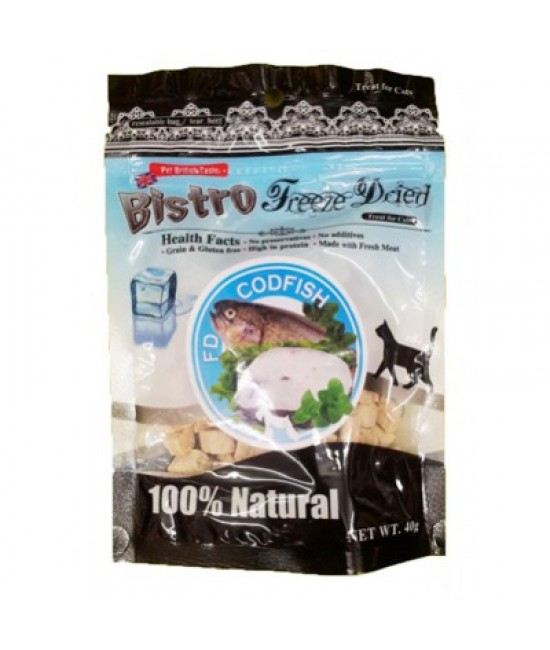 英國Bistro 脫水鱈魚貓小食 - 40g