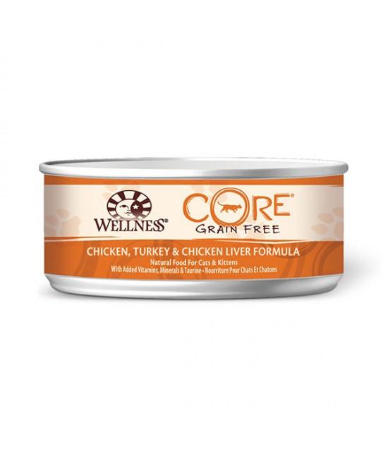 Wellness Core 無穀物貓罐頭 - 雞肉、火雞、雞肝配方 - 5.5oz