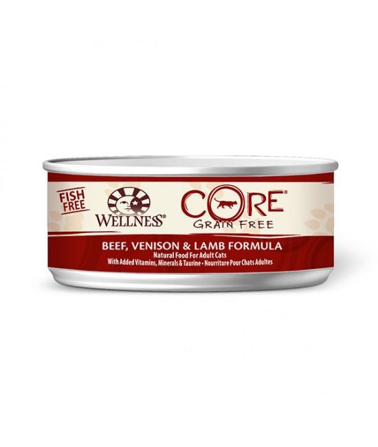 Wellness Core 無穀物貓罐頭 - 牛肉、鹿肉拼羊肉配方 - 5.5oz