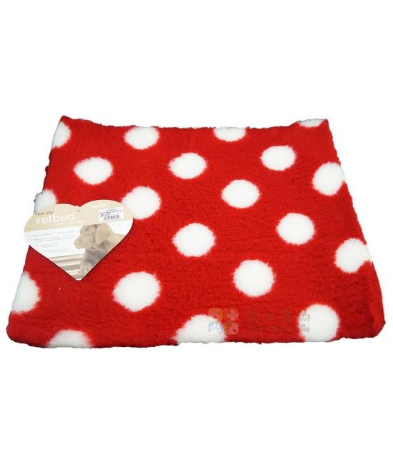 Petlife VetBed(獸醫專用)保暖乾爽床墊 紅色 白色波點