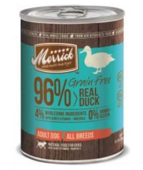 Merrick 無穀物96%鴨肉配方狗罐頭 - 1箱12罐(每罐13.2oz)