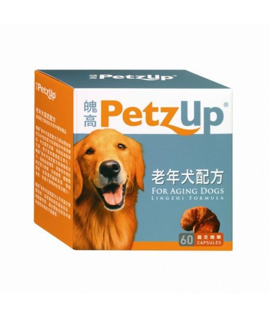 PetzUp 老年犬雲芝配方 - 60粒