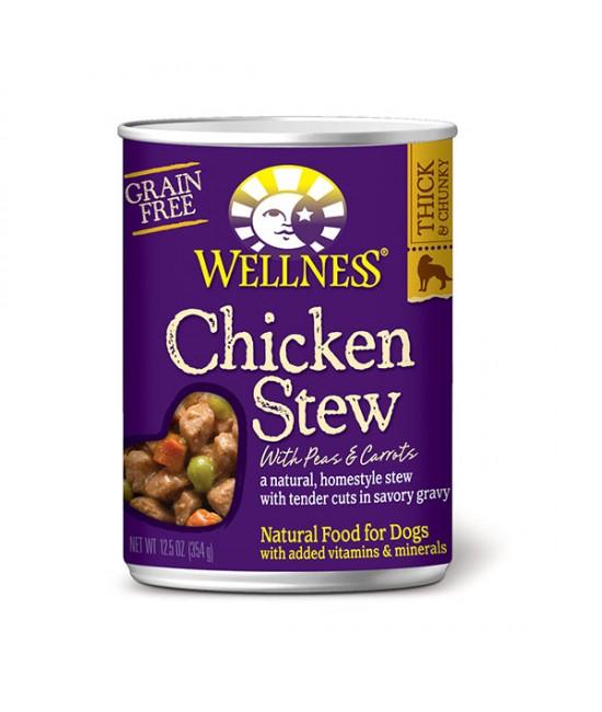 Wellness Stew 鮮汁燴雞狗罐頭 - 12.5oz (12), 狗狗產品, Wellness