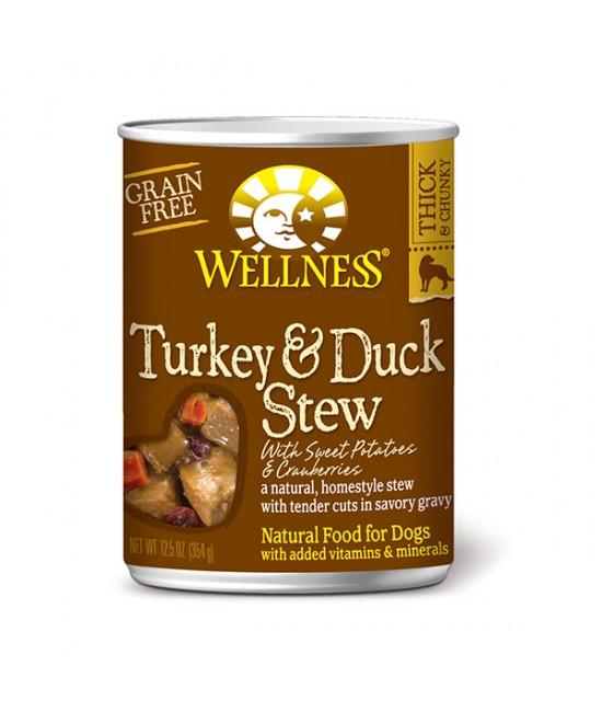 Wellness Stew 紅莓火雞鴨肉狗罐頭 - 12.5oz (12), 狗狗產品, Wellness
