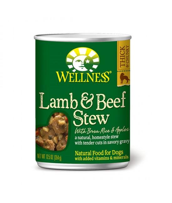 Wellness Stew 羊柳燴牛腩蘋果狗罐頭 - 12.5oz (12), 狗狗產品, Wellness
