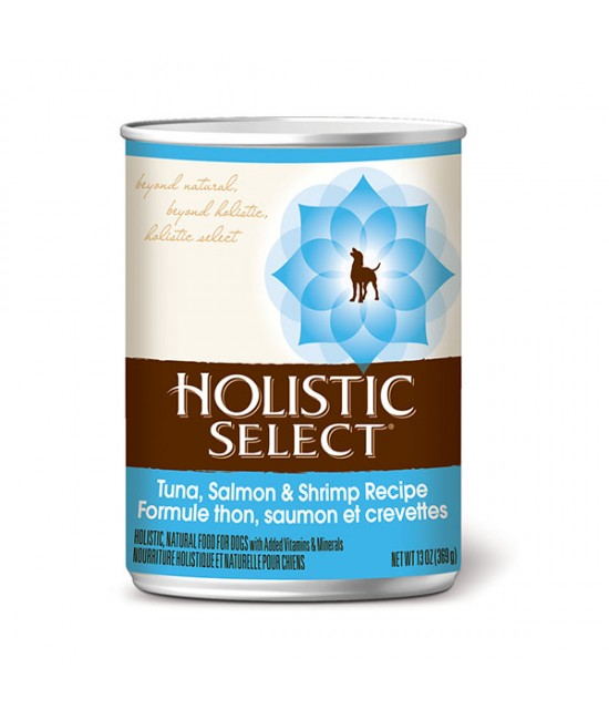 Holistic Select 活力滋吞拿魚、三文魚及蝦狗罐頭13oz(12)