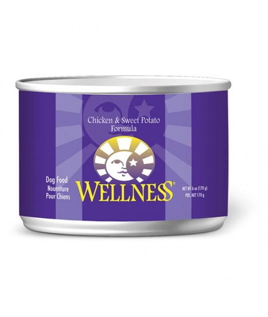 Wellness 雞肉拼甜薯狗罐頭 6oz(24)
