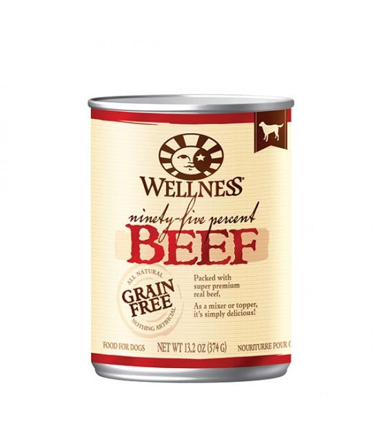 Wellness 95%鮮牛肉無穀物狗罐頭 13.2oz(12)
