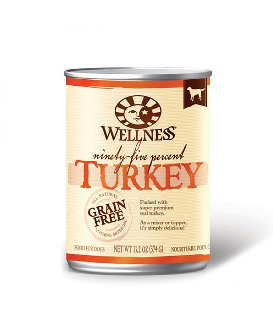 Wellness 95%火雞肉無穀物狗罐頭 13.2oz(12), 狗狗產品, Wellness