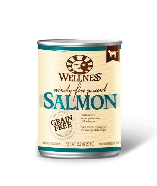 Wellness 95%三文魚無穀物狗罐頭 13.2oz(12), 狗狗產品, Wellness