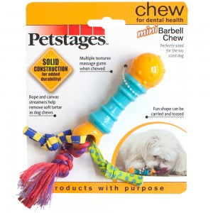 """Petstages Mini Barbell Chew 6"""""""