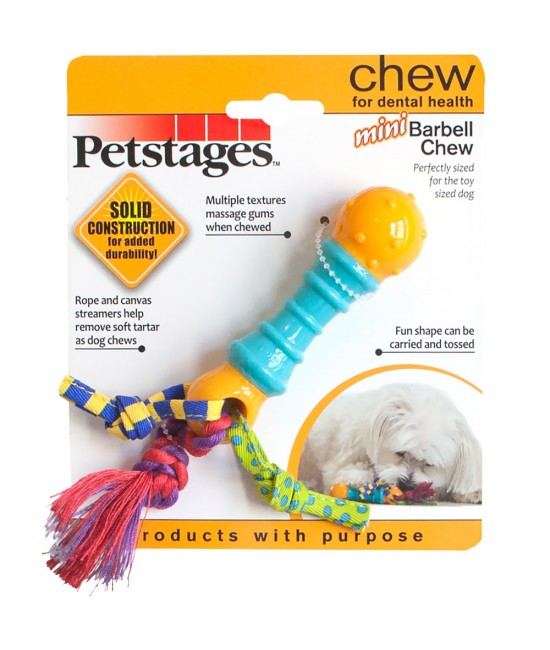 "Petstages Mini Barbell Chew 6"", 狗狗產品, Petstages"