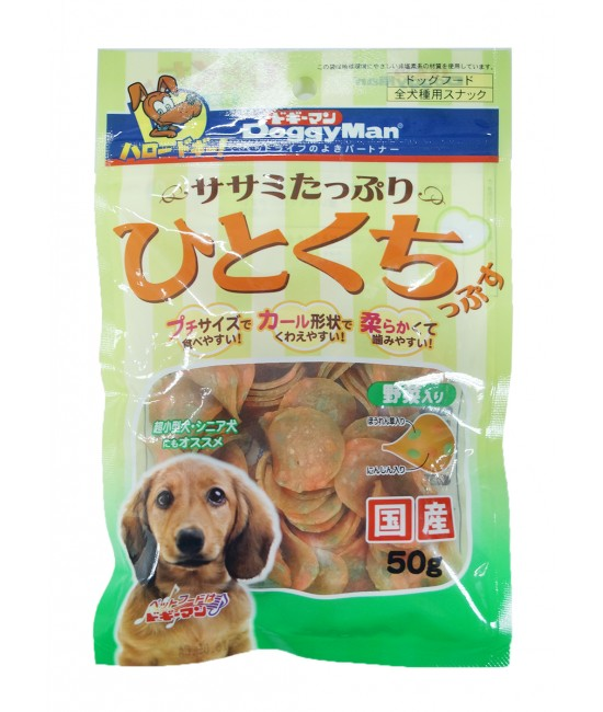 DoggyMan 一口野菜軟雞片狗小食 - 50g