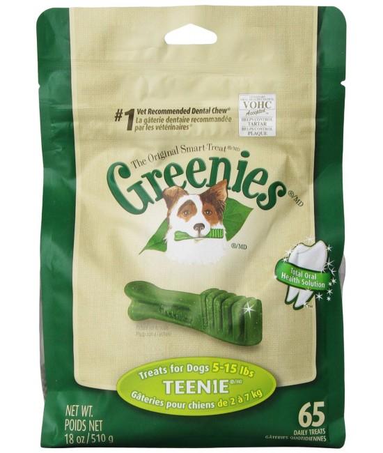 GREENIES Dental Chew 的骰潔齒骨(袋裝) - 18oz(65支)