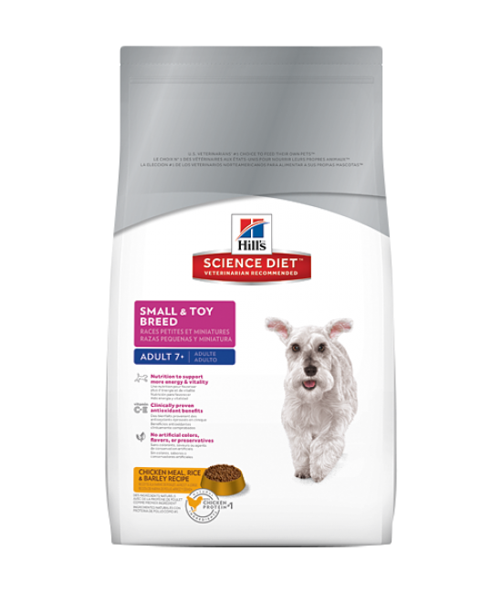 Hill's Science Diet Adult 7+ Small & Toy Breed Dog Food - 1.5kg
