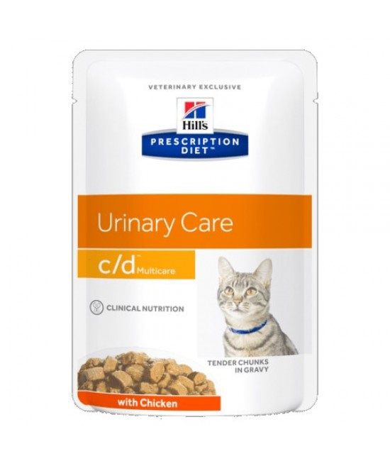 Hill's Prescription Diet c/d Multicare 泌尿系統護理配方貓濕糧 (雞肉), 獸醫產品, Hill's 希爾思