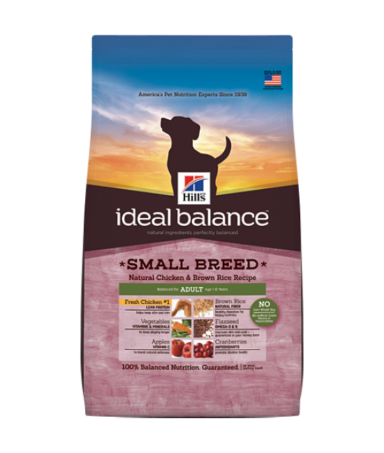 Hill's Ideal Balance Natural Chicken & Brown Rice Recipe Small Breed Adult Dog Food - 4lb