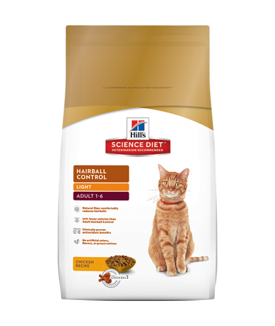 Hill's Science Diet Adult Hairball Control Light - 7lb
