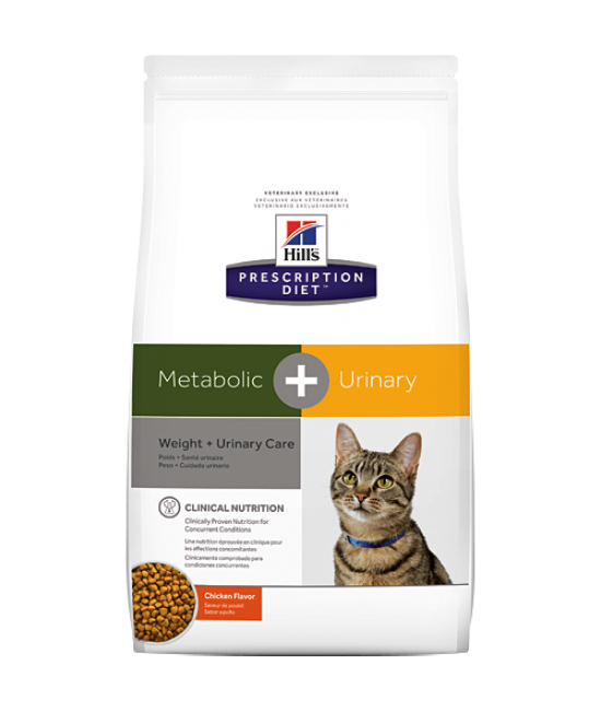 Hill's Prescription Diet Metabolic Plus Weight + Urinary Care Cat Dry Food - 6.35lb