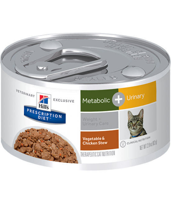 Hill's Prescription Diet Metabolic Plus Urinary Cat Canned Food (Vegetable & Tuna Stew) - 2.9oz