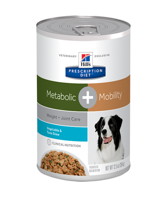 Hill's Prescription Diet Metabolic Plus Weight + Joint Care Dog Canned Food (Vegetable & Tuna Stew) - 12.5oz