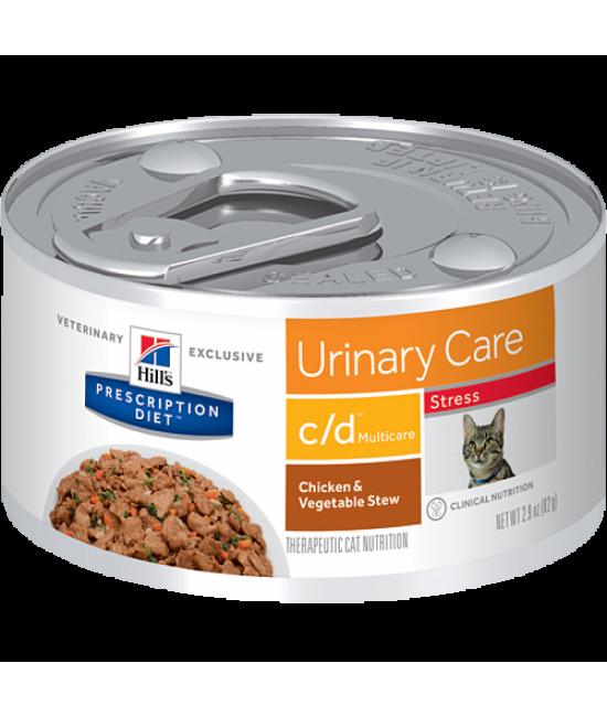 Hill's Prescription Diet c/d Multicare 尿道減壓配方貓罐頭(雞肉和燴蔬菜) - 2.9oz