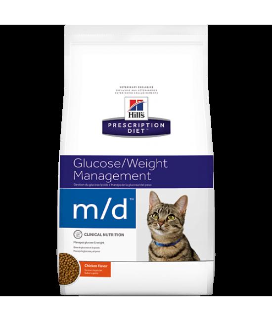 Hill's Prescription Diet m/d 葡萄糖/體重控制配方貓糧 - 4lb, 獸醫產品, Hill's 希爾思
